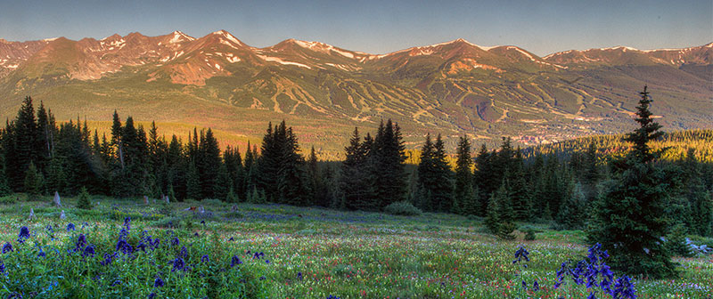 View of Breckenridge in the summer