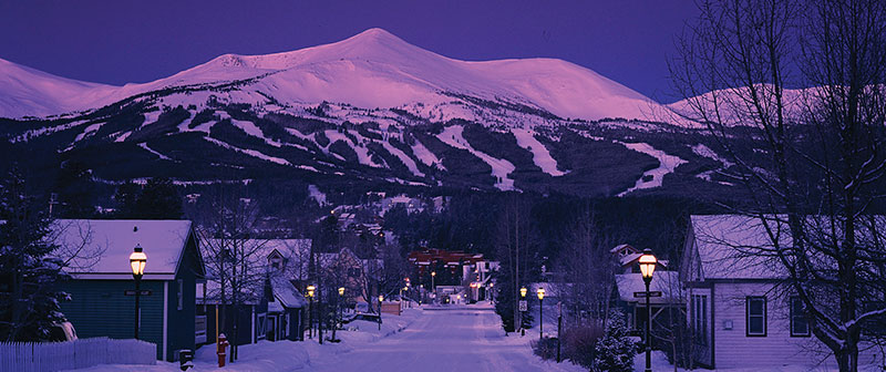 Breckenridge with a purple fade