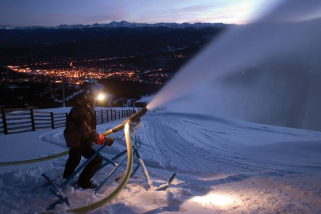 Snowblower at Breckenridge Resort making snow