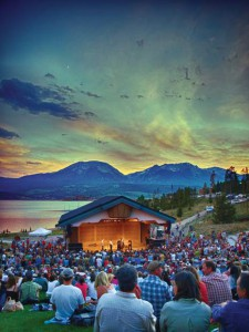 Sunset at Dillon Amphitheater