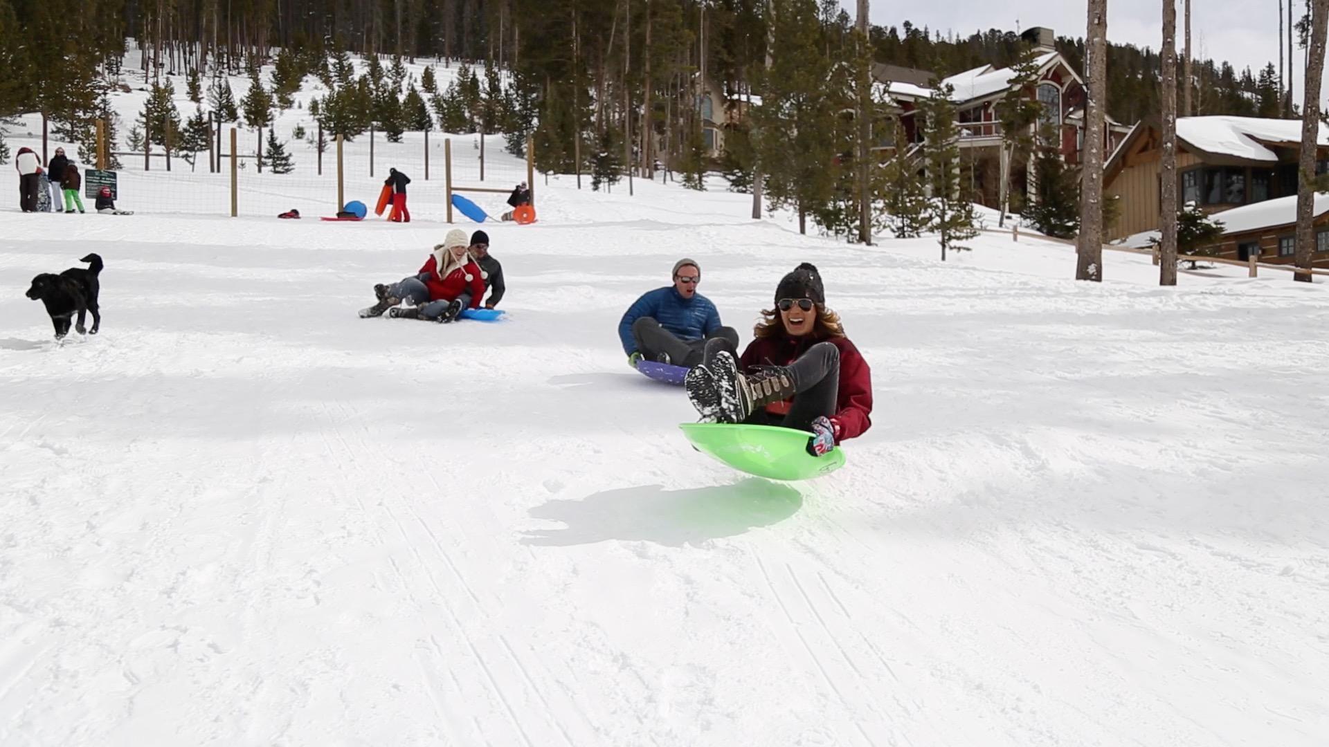 sledding in Breckenridge