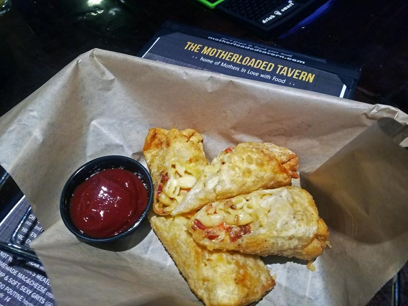 Mac & Cheese Egg Rolls from Motherloaded Tavern