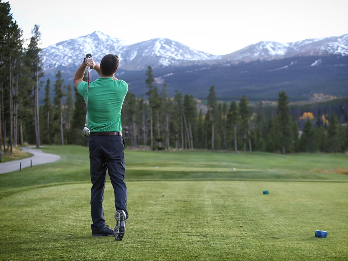 Golfing in Breck