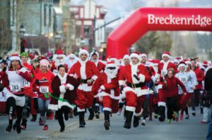 the first weekend in december begins breckenridges annual transformation into a sparkling holiday scene participate in the race of the santas - Breckenridge Christmas