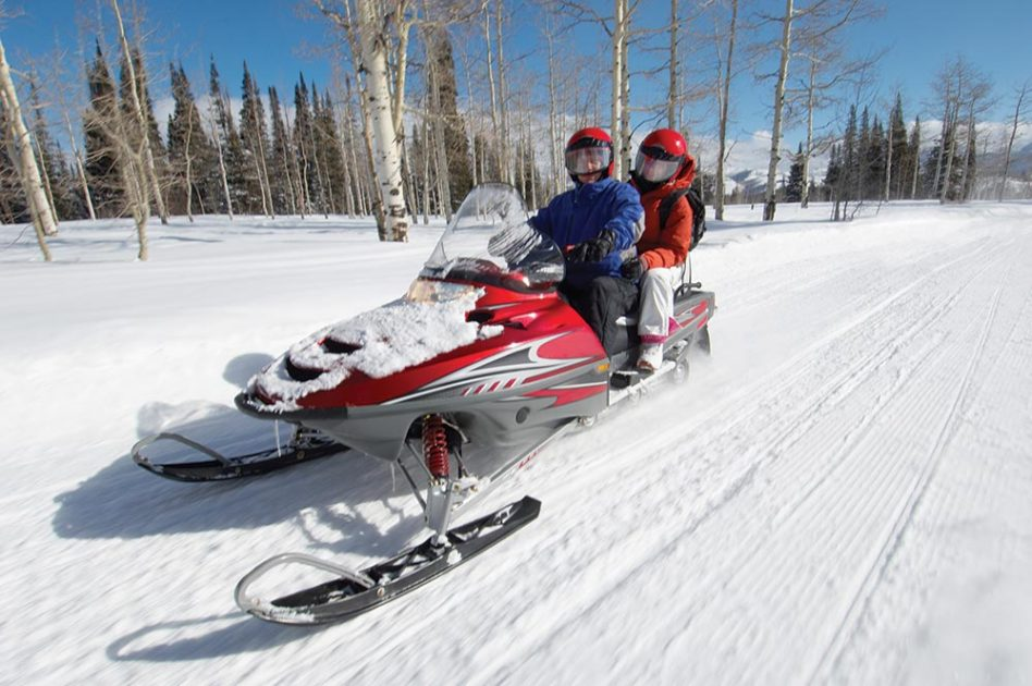 Snowmobiling on a date!