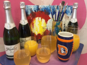 Art & Mimosas @ Ready Paint Fire