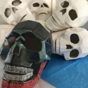 """""""Paint Your Own"""" Faceted Skull @ Ready Paint Fire"""