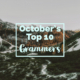 October's Top 10 Grammers