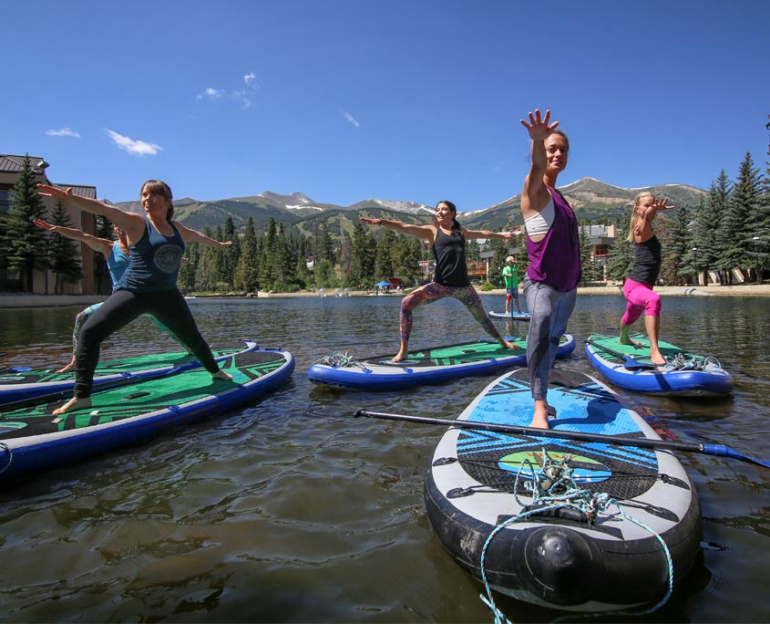 Stand Up Paddle Boarding on Lake Dillon