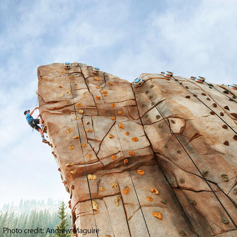 Climbing Wall in Breckenridge