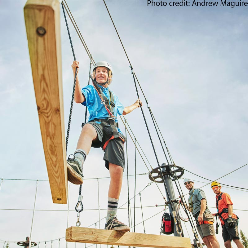 Summer Ropes Course in Breckenridge
