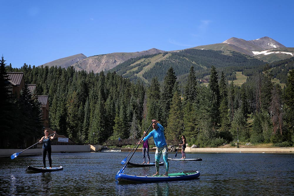 Paddling on Lake Dillon