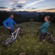 Mountain bikers enjoy sunset in Breckenridge