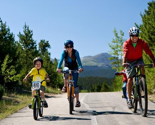 Family Biking in the mountains